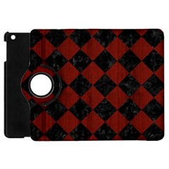 Square2 Black Marble & Red Wood Apple Ipad Mini Flip 360 Case by trendistuff