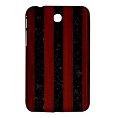 Stripes1 Black Marble & Red Wood Samsung Galaxy Tab 3 (7 ) P3200 Hardshell Case  by trendistuff