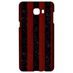 Stripes1 Black Marble & Red Wood Samsung C9 Pro Hardshell Case  by trendistuff