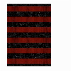 Stripes2 Black Marble & Red Wood Large Garden Flag (two Sides) by trendistuff
