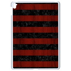 Stripes2 Black Marble & Red Wood Apple Ipad Pro 9 7   White Seamless Case by trendistuff