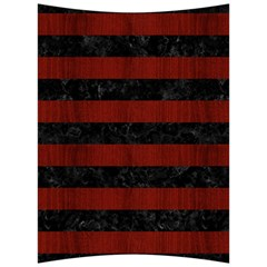 Stripes2 Black Marble & Red Wood Back Support Cushion