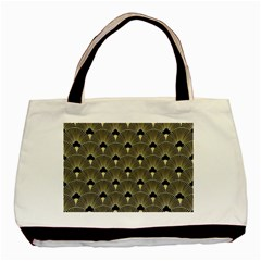 Art Deco Fan Pattern Basic Tote Bag (two Sides)