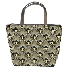 Art Deco Fan Pattern Bucket Bags by 8fugoso