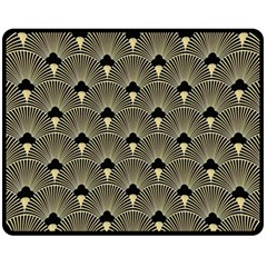 Art Deco Fan Pattern Fleece Blanket (medium)  by 8fugoso
