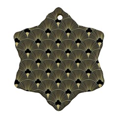 Art Deco Fan Pattern Snowflake Ornament (two Sides) by 8fugoso