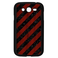 Stripes3 Black Marble & Red Wood (r) Samsung Galaxy Grand Duos I9082 Case (black) by trendistuff
