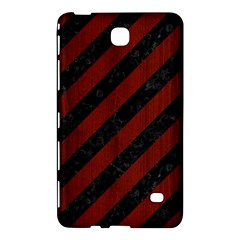 Stripes3 Black Marble & Red Wood (r) Samsung Galaxy Tab 4 (7 ) Hardshell Case  by trendistuff