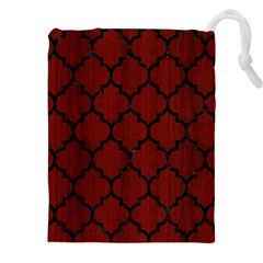Tile1 Black Marble & Red Wood Drawstring Pouches (xxl)