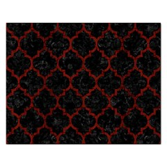 Tile1 Black Marble & Red Wood (r) Rectangular Jigsaw Puzzl by trendistuff
