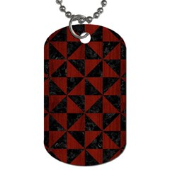 Triangle1 Black Marble & Red Wood Dog Tag (two Sides) by trendistuff