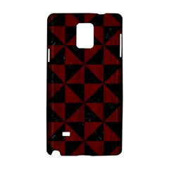 Triangle1 Black Marble & Red Wood Samsung Galaxy Note 4 Hardshell Case by trendistuff