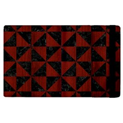 Triangle1 Black Marble & Red Wood Apple Ipad Pro 9 7   Flip Case by trendistuff