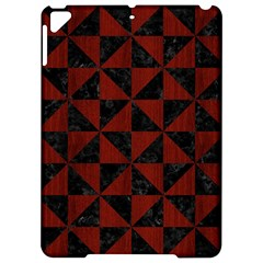 Triangle1 Black Marble & Red Wood Apple Ipad Pro 9 7   Hardshell Case