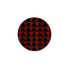 Triangle2 Black Marble & Red Wood Golf Ball Marker (10 Pack) by trendistuff