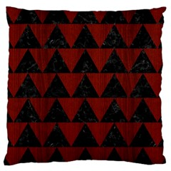 Triangle2 Black Marble & Red Wood Large Cushion Case (two Sides) by trendistuff