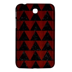 Triangle2 Black Marble & Red Wood Samsung Galaxy Tab 3 (7 ) P3200 Hardshell Case  by trendistuff