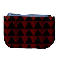 Triangle2 Black Marble & Red Wood Large Coin Purse by trendistuff