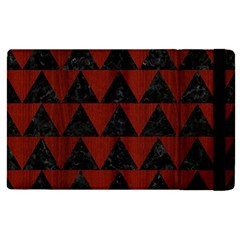 Triangle2 Black Marble & Red Wood Apple Ipad Pro 9 7   Flip Case by trendistuff