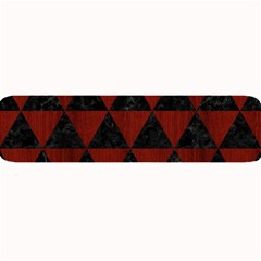 Triangle3 Black Marble & Red Wood Large Bar Mats by trendistuff