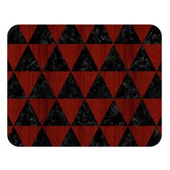 Triangle3 Black Marble & Red Wood Double Sided Flano Blanket (large)