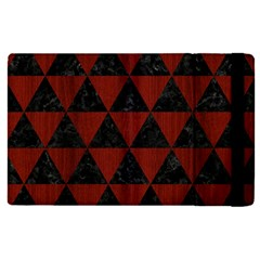 Triangle3 Black Marble & Red Wood Apple Ipad Pro 12 9   Flip Case by trendistuff