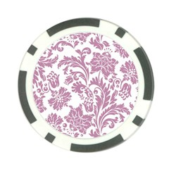 Vintage Floral Pattern Poker Chip Card Guard by 8fugoso