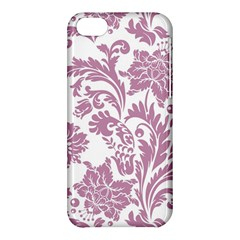 Vintage Floral Pattern Apple Iphone 5c Hardshell Case by 8fugoso