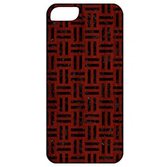 Woven1 Black Marble & Red Wood Apple Iphone 5 Classic Hardshell Case by trendistuff