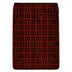 Woven1 Black Marble & Red Wood Flap Covers (l)  by trendistuff