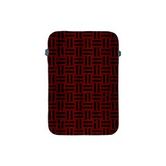 Woven1 Black Marble & Red Wood Apple Ipad Mini Protective Soft Cases by trendistuff