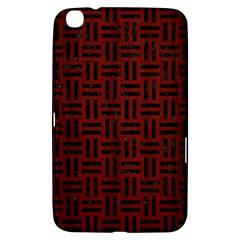 Woven1 Black Marble & Red Wood Samsung Galaxy Tab 3 (8 ) T3100 Hardshell Case  by trendistuff