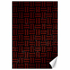 Woven1 Black Marble & Red Wood (r) Canvas 20  X 30   by trendistuff