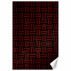 Woven1 Black Marble & Red Wood (r) Canvas 24  X 36  by trendistuff