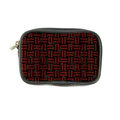 Woven1 Black Marble & Red Wood (r) Coin Purse by trendistuff