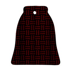Woven1 Black Marble & Red Wood (r) Bell Ornament (two Sides) by trendistuff