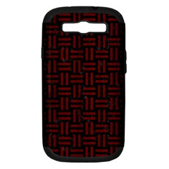 Woven1 Black Marble & Red Wood (r) Samsung Galaxy S Iii Hardshell Case (pc+silicone) by trendistuff