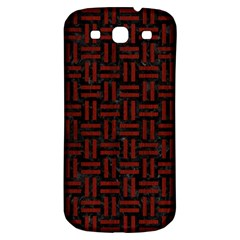 Woven1 Black Marble & Red Wood (r) Samsung Galaxy S3 S Iii Classic Hardshell Back Case by trendistuff