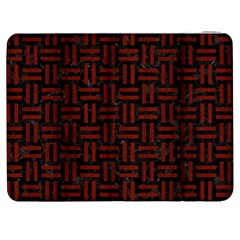 Woven1 Black Marble & Red Wood (r) Samsung Galaxy Tab 7  P1000 Flip Case by trendistuff