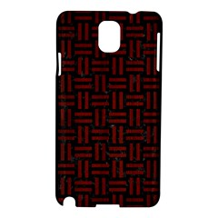 Woven1 Black Marble & Red Wood (r) Samsung Galaxy Note 3 N9005 Hardshell Case by trendistuff