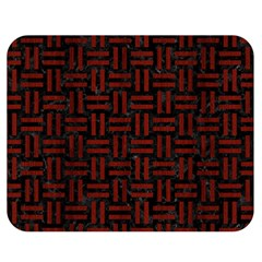 Woven1 Black Marble & Red Wood (r) Double Sided Flano Blanket (medium)  by trendistuff