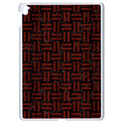 Woven1 Black Marble & Red Wood (r) Apple Ipad Pro 9 7   White Seamless Case by trendistuff