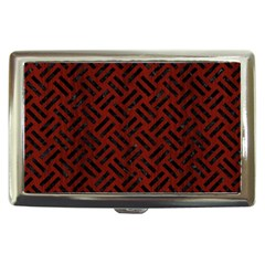 Woven2 Black Marble & Red Wood Cigarette Money Cases
