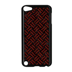Woven2 Black Marble & Red Wood (r) Apple Ipod Touch 5 Case (black) by trendistuff