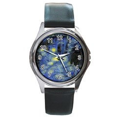 Van Gogh Inspired Round Metal Watch by 8fugoso