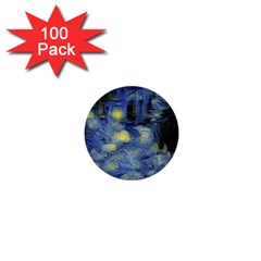 Van Gogh Inspired 1  Mini Buttons (100 Pack)  by 8fugoso