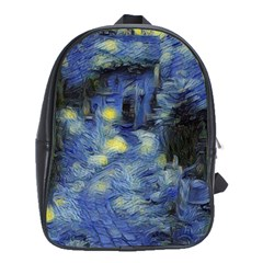 Van Gogh Inspired School Bag (large) by 8fugoso