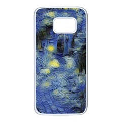 Van Gogh Inspired Samsung Galaxy S7 White Seamless Case by 8fugoso