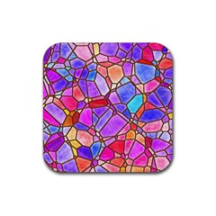 Mosaic Linda 1 Rubber Square Coaster (4 Pack)  by MoreColorsinLife
