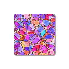 Mosaic Linda 1 Square Magnet by MoreColorsinLife